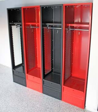 Sports Enthusiast With An Awesome Home Gym These Stadium Lockers From Sportlox Are An Awesome