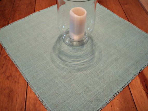 Colored Burlap Table Squares Sizes from 12 up by theruffleddaisy