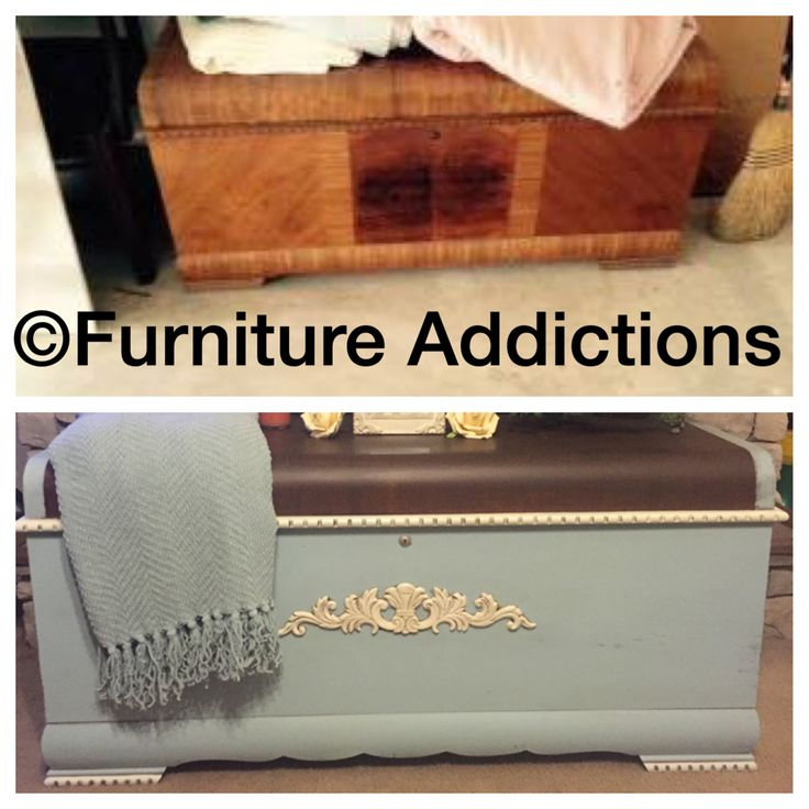 Chalk painted cedar chest trunk by Furniture Addictions