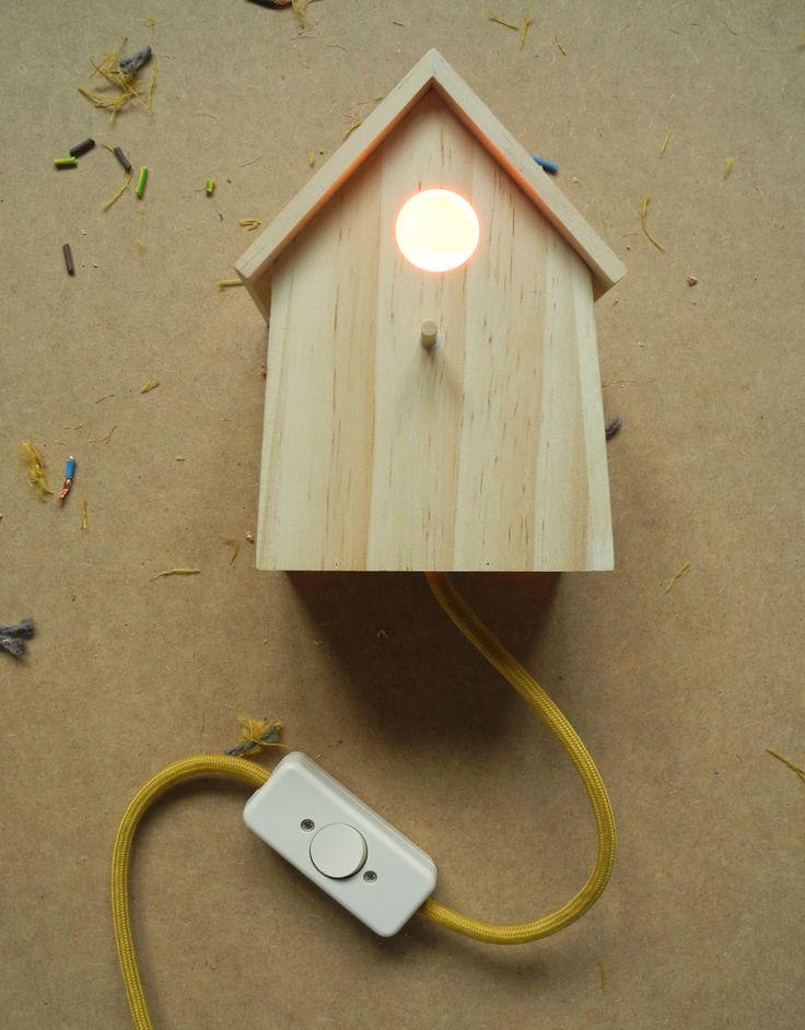 DIY bird house lamp