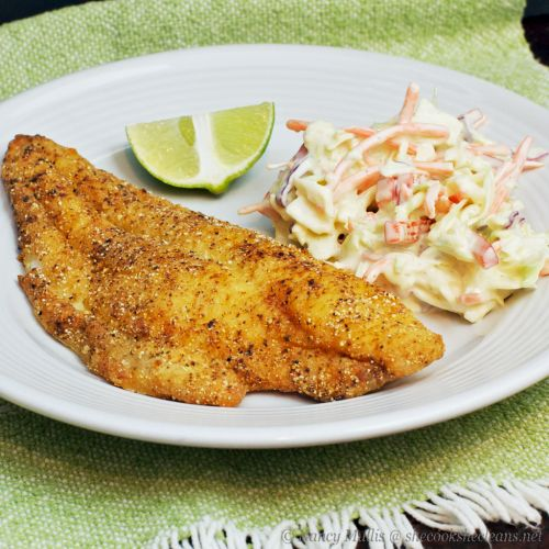 Pan-Fried Catfish   she cooks...he cleans