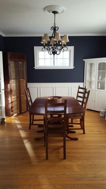Benjamin moore hale navy dining room family home for Navy dining room ideas