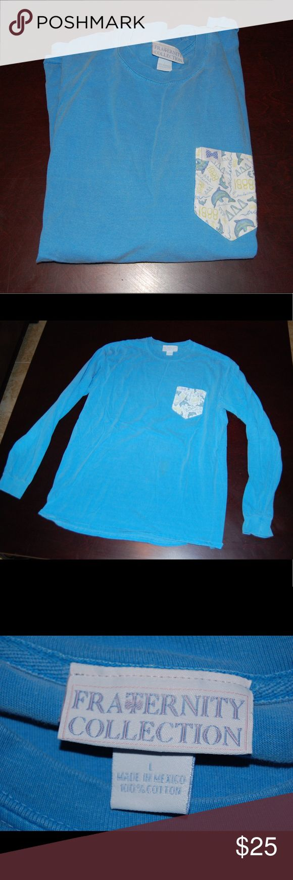 Long sleeve tri delta t shirt Perfect condition worn once or twice fraternity collection Tops Tees - Long Sleeve