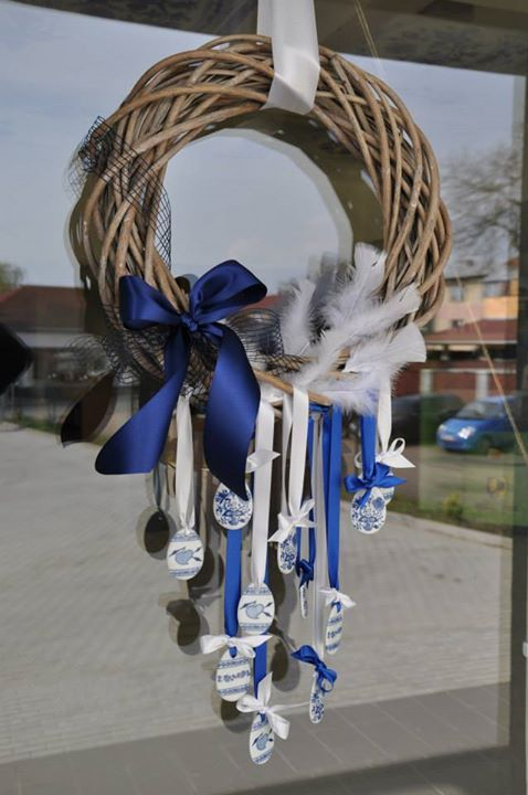 Another Easter item decorated with Blue Onion.  Love this!