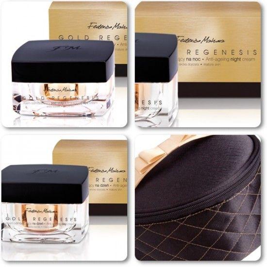 Gold Regenesis exkluzív kozmetikai termékcsalád.  http://webaruhaz.illattenger.hu/fm-group-parfum-noi-91/akcios-szettek-245/gold-regenesis-csomag-kozmetikai-taskaval-all-in-479