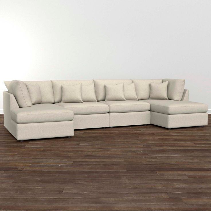 Beckham Double Chaise Sectional Sofa, T-Cushion, in ...