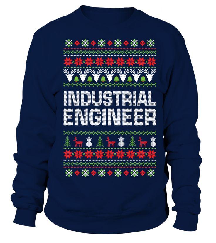 Industrial Engineer Christmas Jumper  Funny Industrial T-shirt, Best Industrial T-shirt