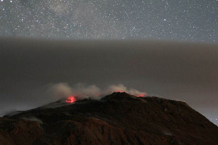 Chaiten Volcano at night by Hugh Tuffen | from Chile 2014: Chaiten and Cordon Caulle via Flickr Photo Sharing http://www.flickr.com/photos/27337835@N00/sets/72157639969309235/