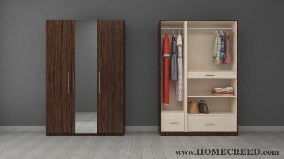Ladies, now furnish your #Bedroom with HomeCreed #wardrobe .Whether it's for full length dresses, overcoats, short dresses or tunics, this wardrobe is a perfect solution for you.  Happy Shopping!! #Woman #WomenWardrobe #ModernWoman #WardrobeforWomen #FurnitureDesign #WalkInCloset #CustomDesigns #FurnishYourLiving