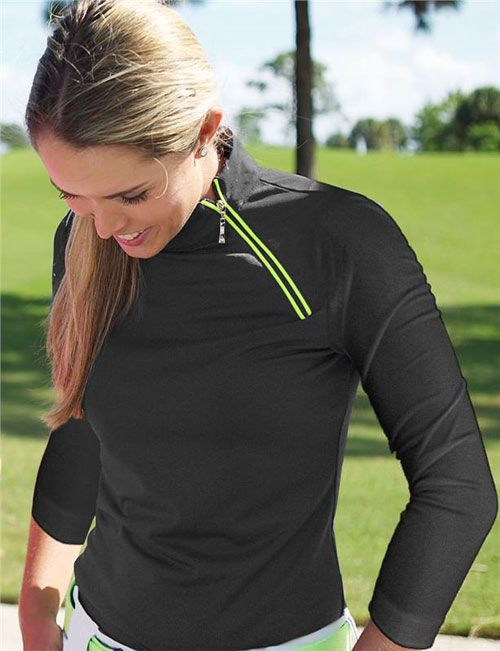 The Jofit Asymmetrical Wind Shirt is a great twist on an old classic. Featuring the signature shaped waist and scooped bottom hem to create a slimming effect! #golf #ootd #lorisgolfshoppe