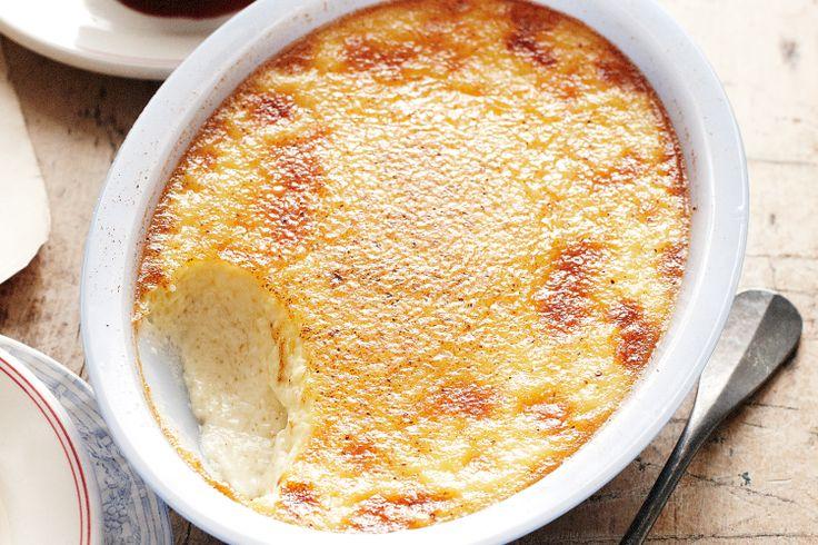 Baked nutmeg custard - classic comfort food http://www.taste.com.au/recipes/25180/baked+nutmeg+custard