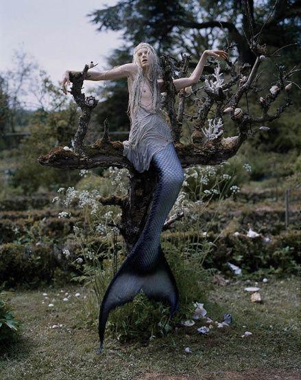 Kristen McMenamy as mermaid by Tim Walker, W Magazine, 2013.