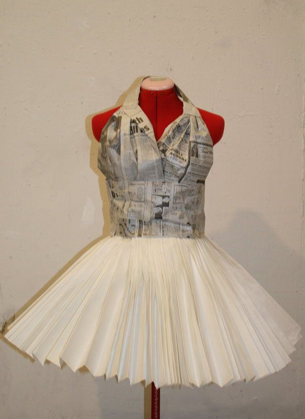 how to make a dress with newspaper