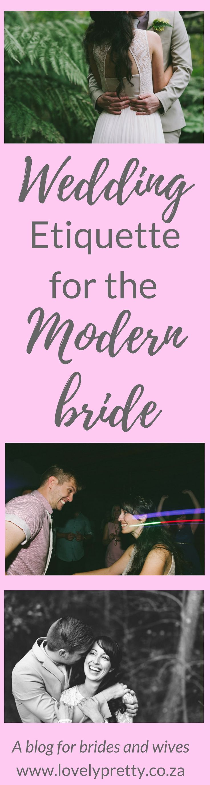 Wedding etiquette is archaic and oldschool. I've created a list of modern etiquette rules that make way more sense to me!
