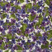 Arabella - Packed Violets Natural Yardage - Debbie Beaves - Maywood Studio —  Missouri Star Quilt Co.