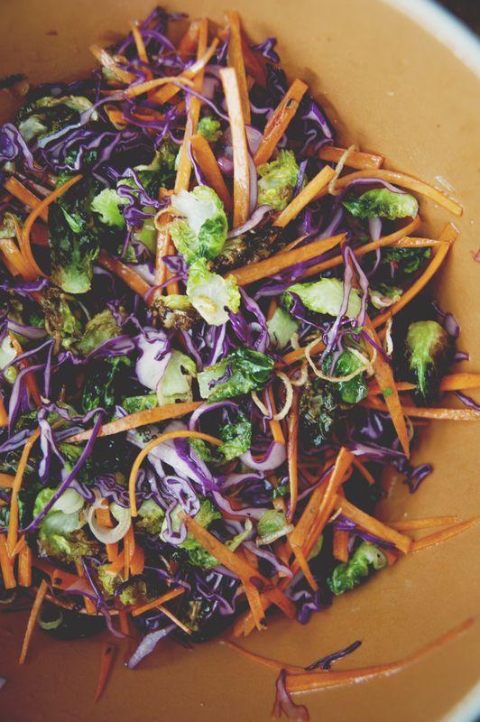 crispy brussel sprouts salad!