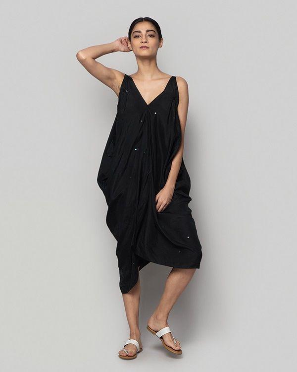 NICOBAR Silk Asymmetrical Dress