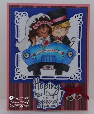 ONECRAZYSTAMPER.COM: Just Married by Leanne using High Hopes Stamps new Spring…