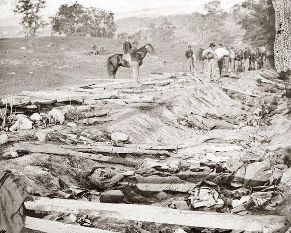 Dead Soldiers in a Ditch after the Battle of Antietam