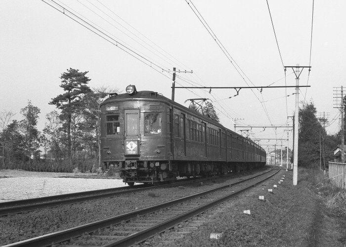 クモハ60形常磐線南柏ー柏(S38)