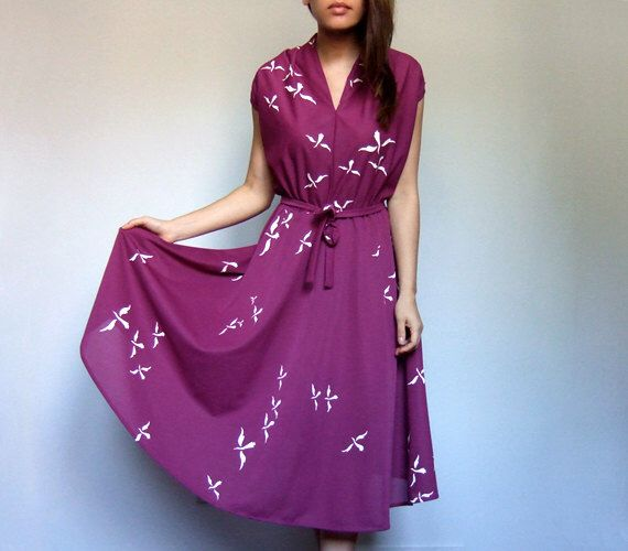 Purple Dress Sheer Summer Dress See Through Sundress Vintage Day Dress 70s Sundress - Large to Extra Large L XL by MidnightFlight on Etsy https://www.etsy.com/listing/475104869/purple-dress-sheer-summer-dress-see