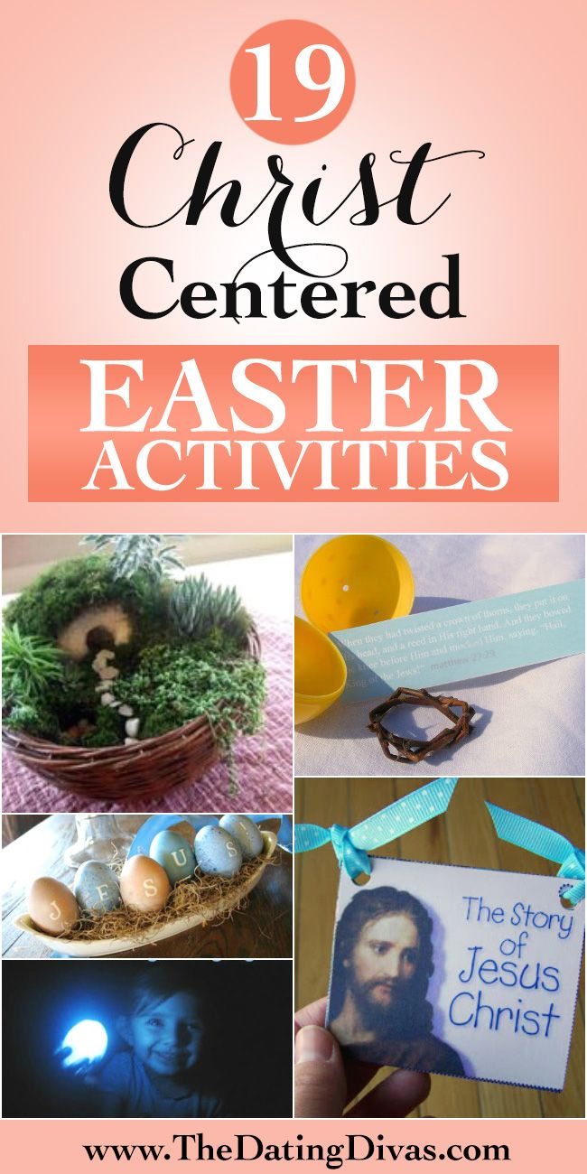 Sooooo many fun Christ-centered Easter activities for kids.  Everything from games to books to printables.   www.TheDatingDivas.com