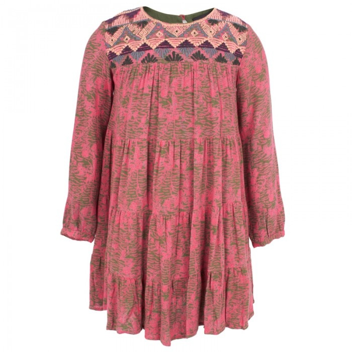 Antik Batik Green Pink Pattern Dress