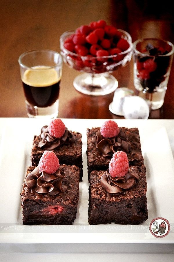 sweetest kitchen   Raspberry Chocolate Chunk Brownies Infused With Nespresso Cioccorosso