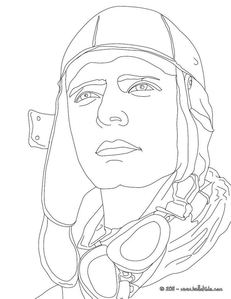 Coloring Page Charles Lindbergh