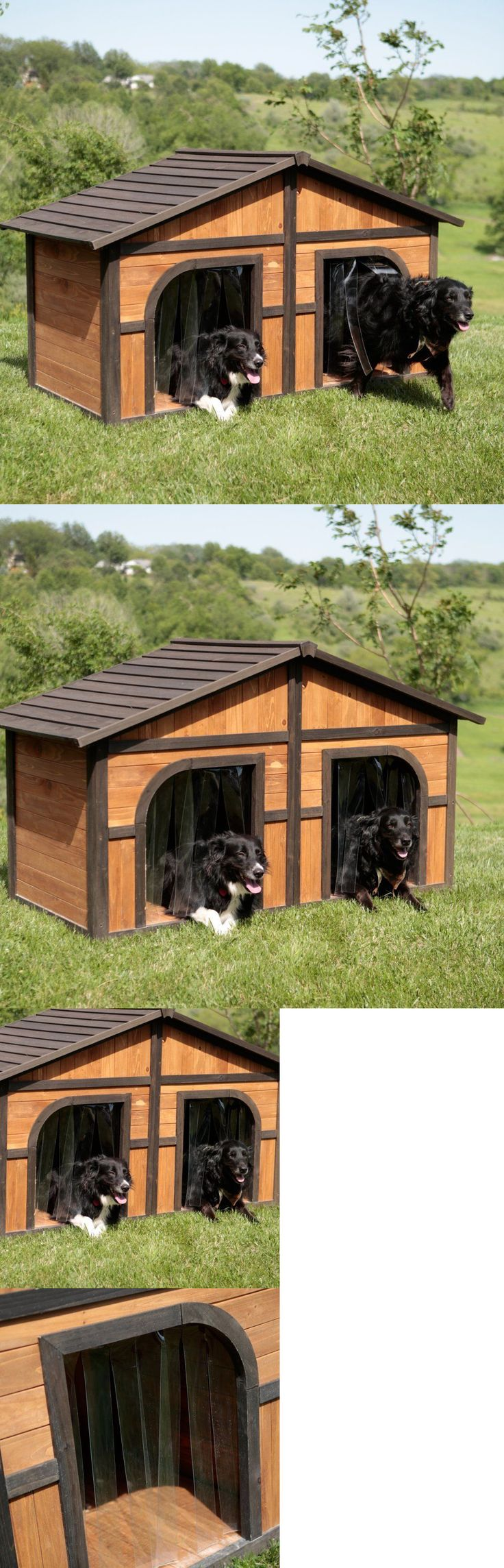Dog Houses 108884: Xl Dog House Extra Large Kennel For 2 Dogs Wood Insulated Duplex Pet Shelter -> BUY IT NOW ONLY: $415.89 on eBay!
