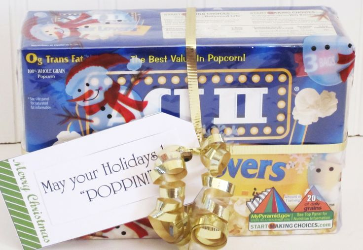 {Microwave Popcorn} May your Holiday's be 'POPPIN'!: Cheap Gift, 15 Gift, Holiday Gift, Gift Ideas, Secret Pal, Teacher Gift, Neighbor Gift, Christmas Gift Idea, Secret Santa Gift