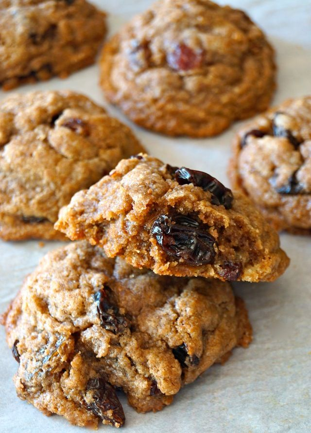 Cinnamon Raisin Cookies Recipe -- These cinnamon raisin cookies are truly a melt-in-your-mouth dreamy treat. They're soft and crisp, and buttery and cinnamon-y -- all at once!