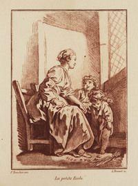 La petite Ecole. | Bonnet, Louis Marin. Date: 1763 - 1793 Type:grafiek Format:papier: hoogte: 410 mm; papier: Anchura: 314 mm; beeld: hoogte: 207 mm; beeld: Anchura: 152 mm
