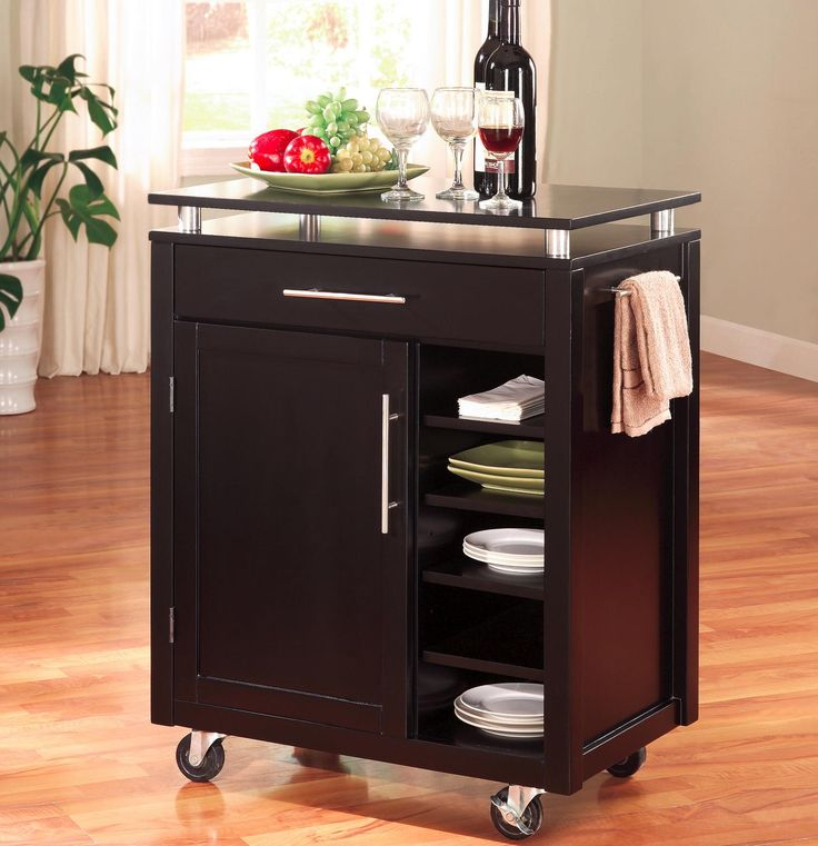 Ellegant Portable Kitchen Cabinet: Make Sharing Snacks And Drinks Mobile! Delsolfurniture.com