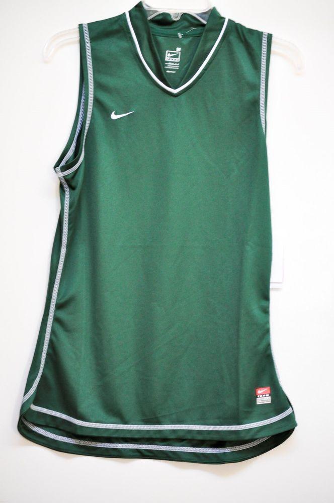 NIKE Women Tee Team Dri Fit Running Gymnastic Basketball Green size M NWT #Nike #BaseLayers