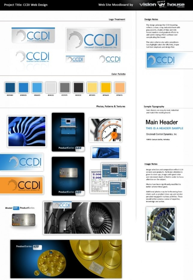 Another moodboard we did for CCDI - airflow machines.com in Cincinnati