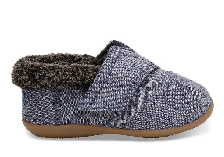 undefined Navy Chambray Tiny TOMS House Slippers