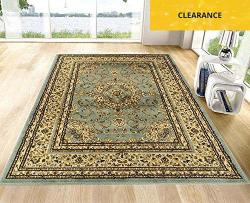 Ottomanson Royal Collection New Traditional Oriental Medallion Design Area  Rug Sage, 7\'10