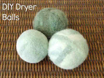 Felted Dryer Balls Tutorial - Fiberartsy.com   Environmentally friendly, long lasting alternative to fabric softener.