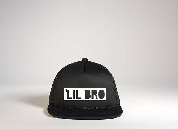 9ece22c93 LIL BRO Snapback Hat   Lil Brother Infant Trucker Hat   Sibling Hat ...