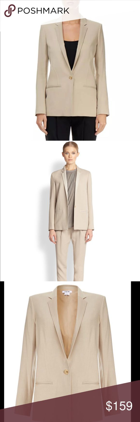 """HELMUT LANG BLAZER This blazer is beautiful! Information above. In new condition. No holes, stains, etc. Originally price $715.00. Length 27"""", arms 24.5"""". Helmut Lang Jackets & Coats Blazers"""