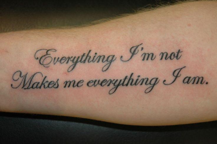 Best 25 script tattoos ideas on pinterest writing for Tattoo forearm writing