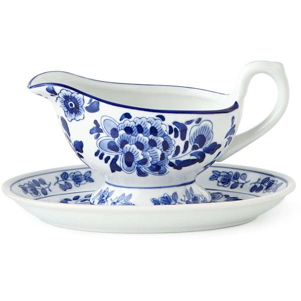 NM EXCLUSIVE Traditional Gravy Boat & Stand ($16) via Polyvore featuring home, kitchen & dining and serveware