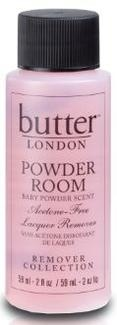 Powder Room nail polish remover  (works great and smells great!)