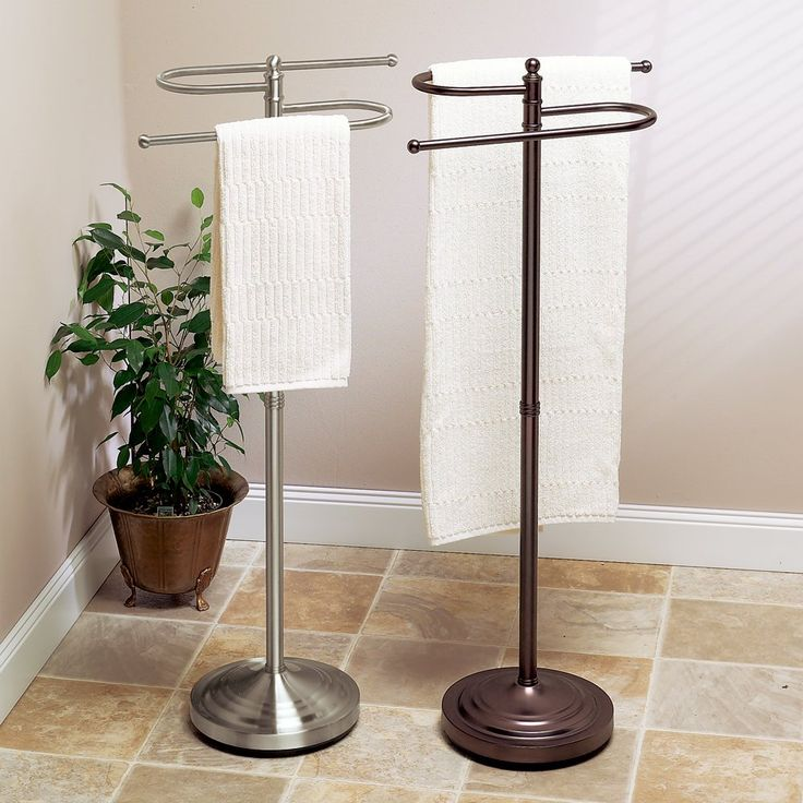 gatco floor standing s style towel holder satin nickel
