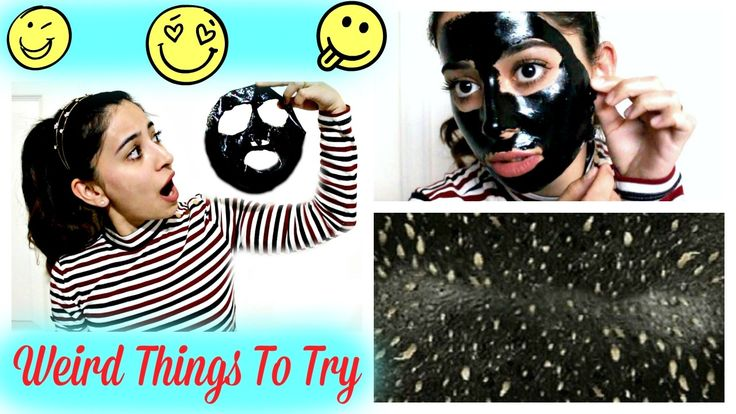 Charcoal Peel Off Mask | Weird Things To Try