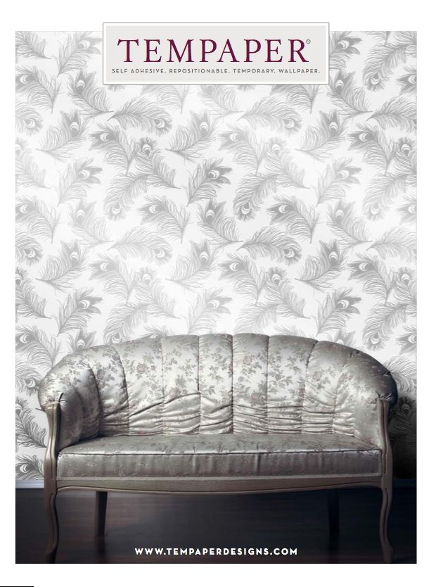 add style and visual interest to a space your renting with Tempaper removable wallpaper