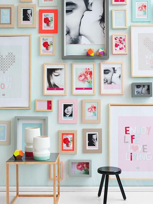 Fun cheerful gallery wall