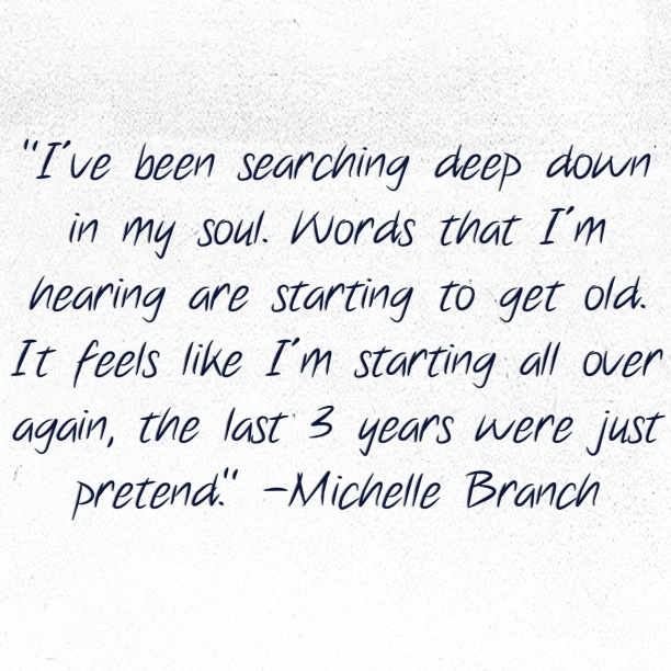 Michelle Branch - Goodbye To You  Probably my favorite Michelle song.