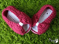 Ravelry: Mini Princess Slippers pattern by Pingo - The Pink Penguin